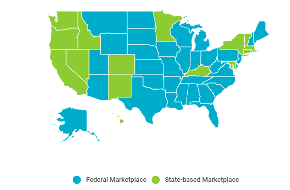 State and federal insurance marketplaces